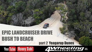 EPIC LANDCRUISER DRIVE BUSH TO BEACH, Yeagerup Dunes