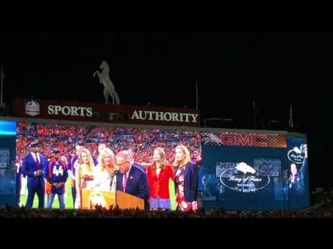 Denver Broncos - Pat Bowlen Ring Of Fame Induction - Sports Authority Field