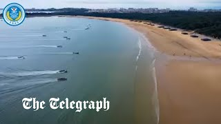video: Chinese 'shock' troops storm beach near Taiwan in training exercise
