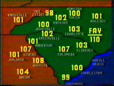 WLOS-13, Asheville, NC, Weather Segment, 1983