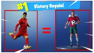 * CRISTIANO RONALDO's NEW SKIN: CR7 * and GAMEPLAY-Fortnite: Battle Royale!
