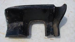 1964 GTO LEMANS RIGHT QUARTER PANEL TAIL LIGHT LAMP EXTENSION PONTIAC 389