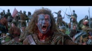 Битва. Шотландцы одерживают победу. Посвящение Уильяма Уоллеса в рыцари. HD