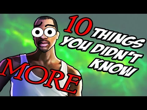 10 MORE Things You Didnt Know About GTA San Andreas