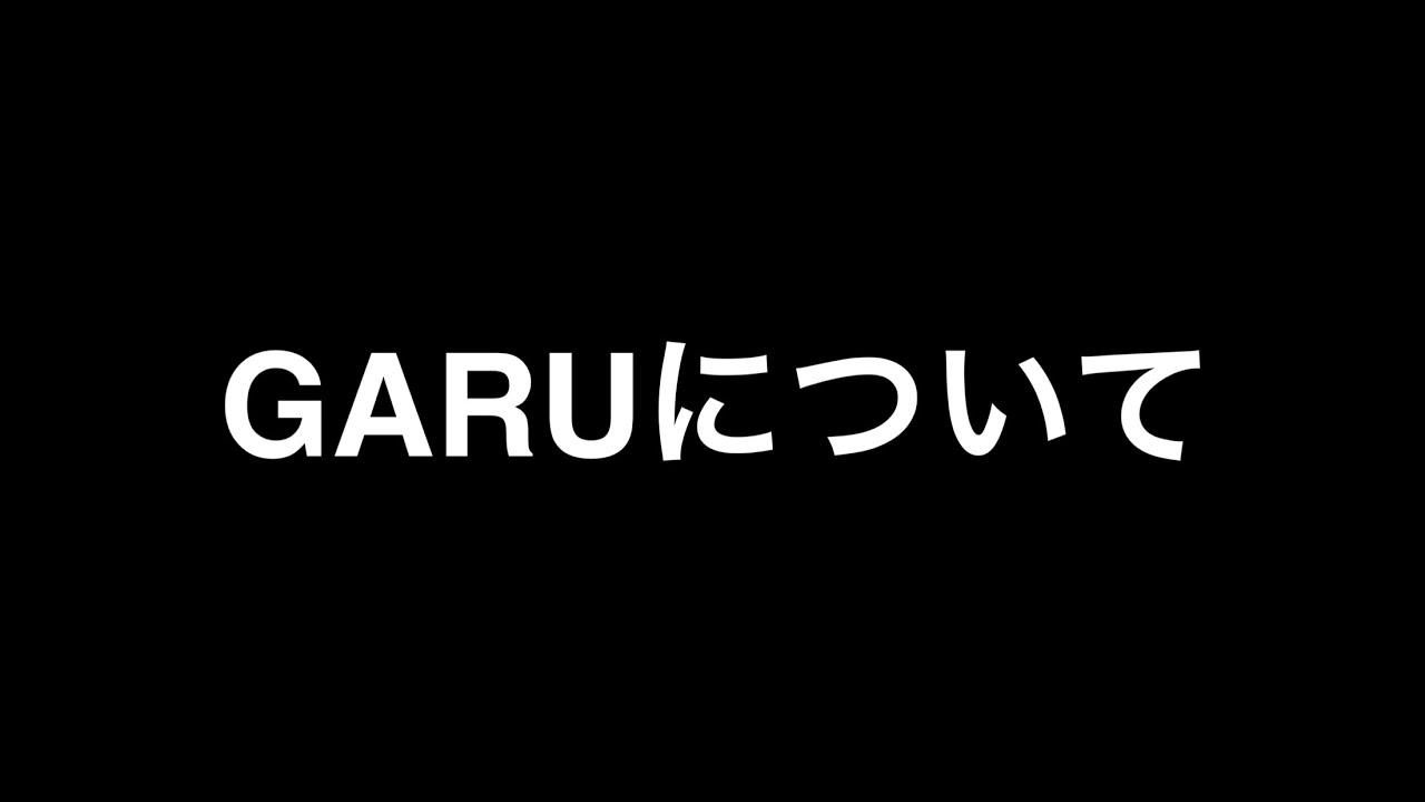 ご報告 garuについて youtube