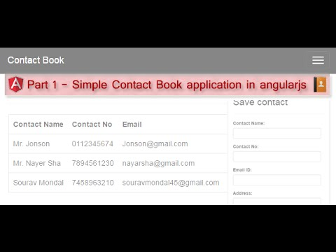 Part 1 - Simple Contact Book application in angularjs