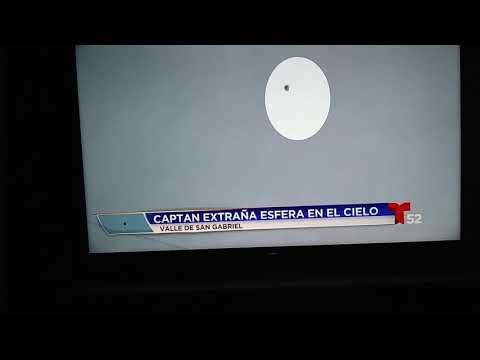 UFO over Los Angeles California Julian Lopez interview with Telemundo 52