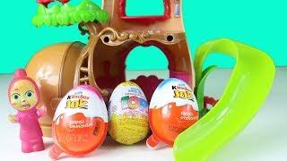 Heidinin Ağaç Evinde Sürpriz Yumurtalar Var Maşa Yumurta Açıyor Çizgi Filmler