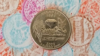 GREAT FIND ON THE ARKANSAS STATE QUARTER