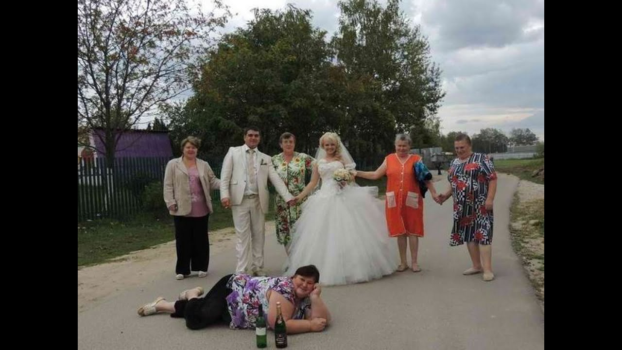 Смешные падения людей на свадьбах.Лучшие приколы на свадьбе