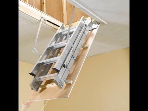 Attic Ladder - Install & Attic Ladder - Install - YouTube