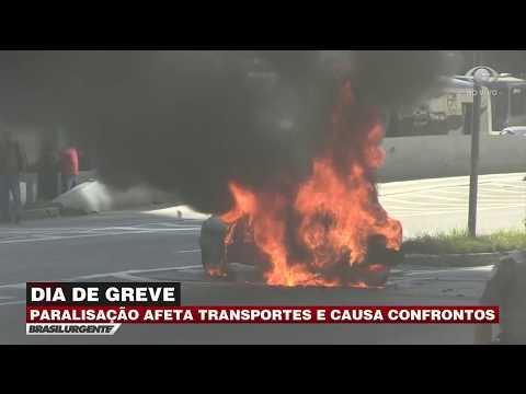 Greve geral: confronto e fogo em barricadas em São Paulo