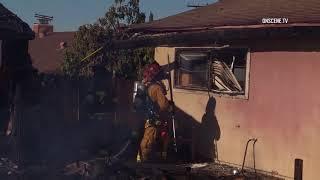 Chula Vista: Outlying Building Burns 10222017 thumbnail