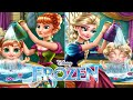 💫 Frozen Anna and Elsa Baby Wash Disney Princess Care Baby Game for Girls HD