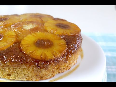 easy-vegan-pineapple-upside-down-cake!