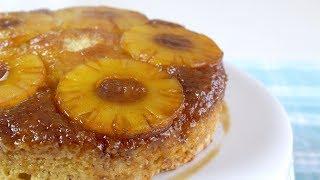 Easy Vegan Pineapple Upside Down Cake!