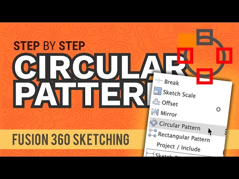How to Circular Pattern Sketch Geometry in Fusion 360 thumbnail