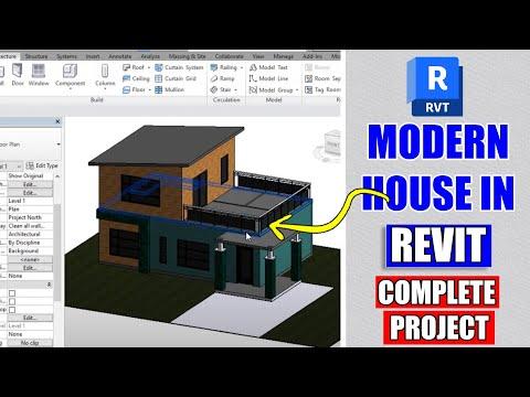 Modern House Design In Revit Architecture Tutorial #9