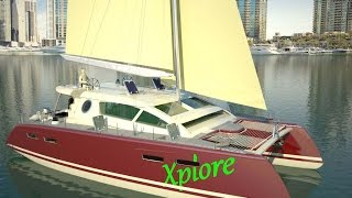 40 ft  Sail Catamaran Concept Design Andrei Rochian