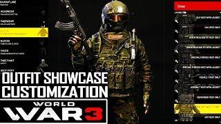WORLD WAR 3 | Full outfit customization showcase