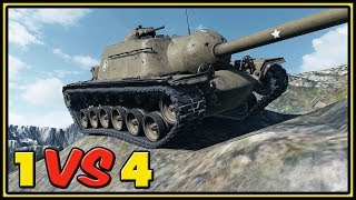T110E3 - 9 Kills - 1 VS 4 - World of Tanks Gameplay