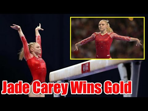 Jade Carey of the United States Wins Floor Exercise Gold