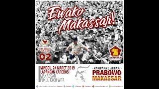 Kampanye Akbar Prabowo-Sandi, Lapangan Karebosi, Makassar - Sulawesi Selatan