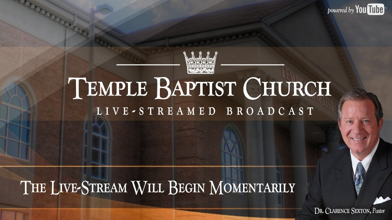 Sunday Evening Meeting of the Temple Baptist Church