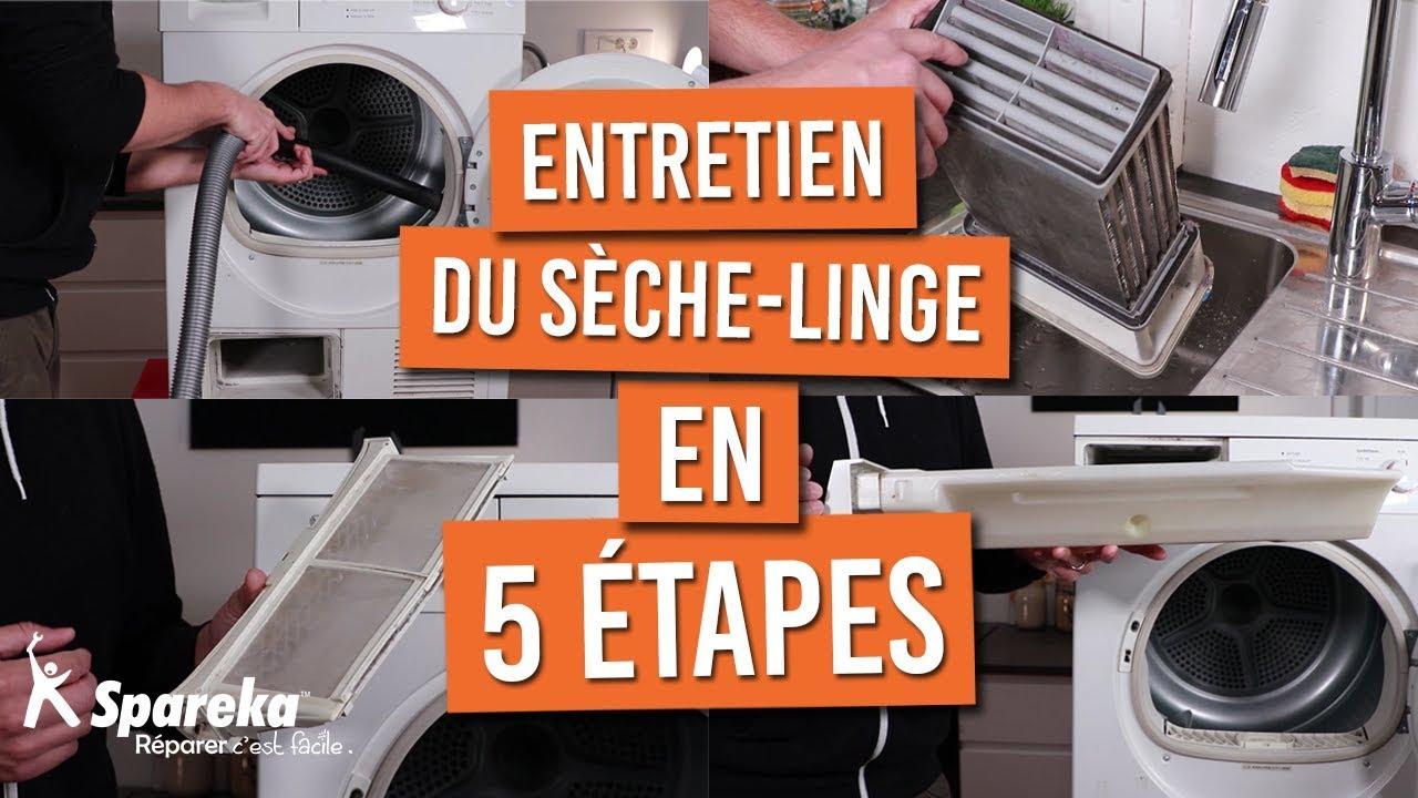 Machine À Laver Et Sèche Linge Intégré comment faire l'entretien de votre seche linge en 5 étapes