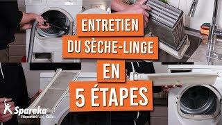 Comment faire l'entretien de votre seche linge en 5 étapes