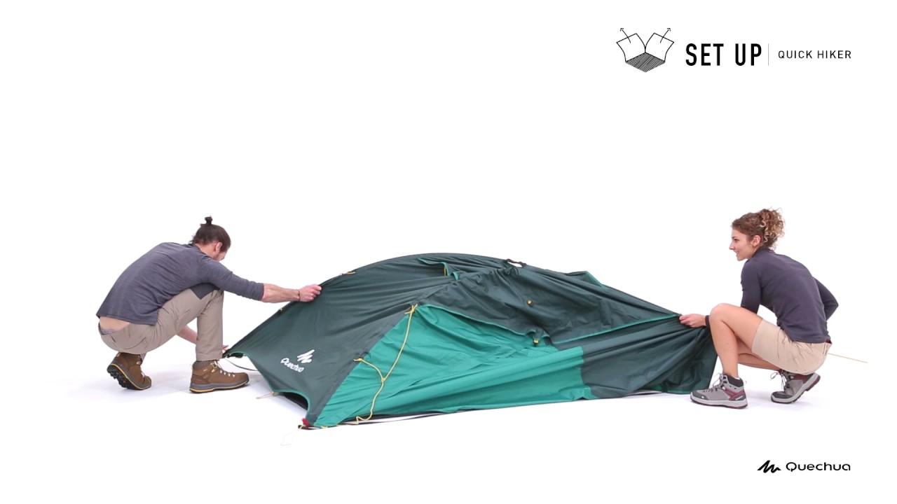 0cc8701e2 Monter sa tente Quick Hiker - Quechua - YouTube