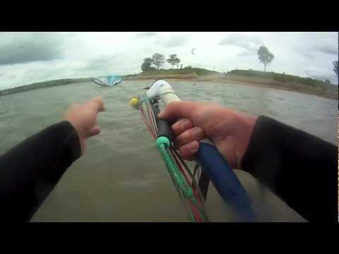 Kite Surf Disaster Crash Exmouth Duck Pond Ripped Kite Death Loop