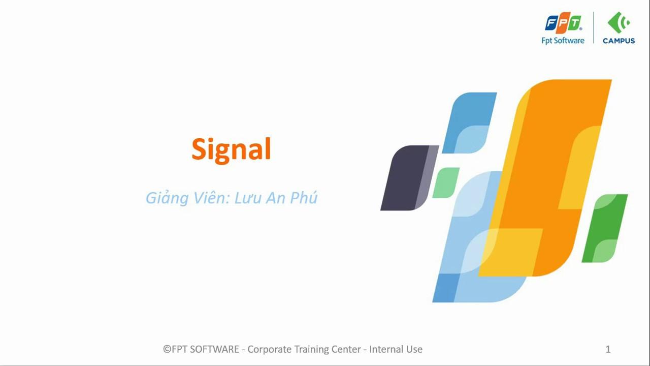 Linux embedded Unit 5 Signal