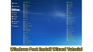 Windows Post Install Wizard Tutorial by Britec