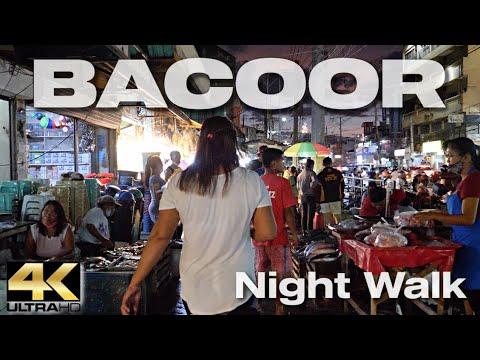 BACOOR CAVITE PHILIPPINES - Night Walk [4K]