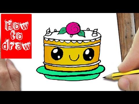 How To Draw A Cute Cake Kawaii Hoe Teken Je Een Taartje