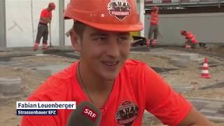 SRF @ SwissSkills 2018: Strassenbauer Schweizermeisterschaft Teil 1