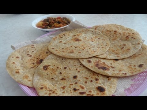 Whole Wheat Plain Paratha video recipe - Indian Cooking by Bhavna