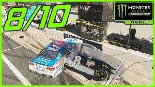 EXCUSE ME! - NASCAR Heat 2 Career Mode  Playoff Race 8/10 