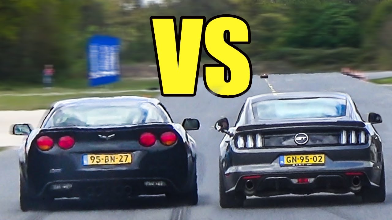 Corvette C6 Z06 Vs Ford Mustang Gt