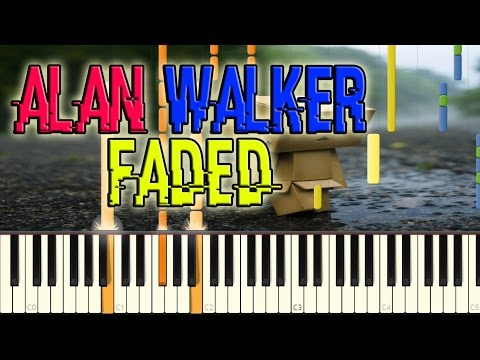 Alan Walker - Faded Piano Cover + Free midi file download & MP3