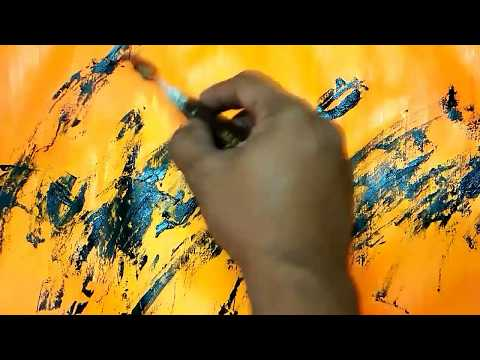 Playing with Colors-01/Abstract/ Brush and Palette knife /Abstract Painting Tutorial