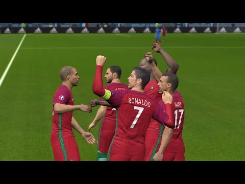PES 2016 UEFA Euro 2016 Final (Portugal vs France Gameplay)