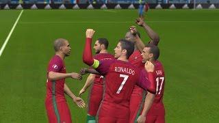 PES 2016 UEFA Euro 2016 Final (Portugal vs France Gameplay)