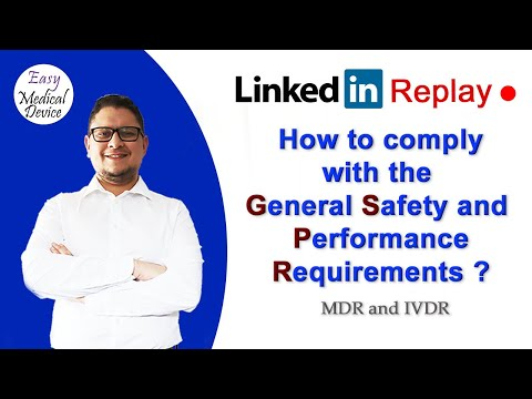 How to comply to the GSPR ? (EU MDR and IVDR - Monir El Azzouzi)