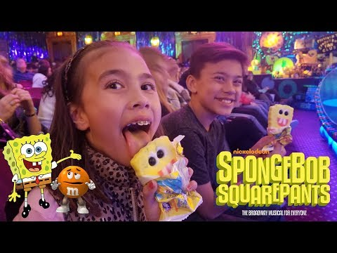 THE SPONGEBOB SQUAREPANTS MUSICAL!!! M&M's VS. World's Largest Hershey's Bar!