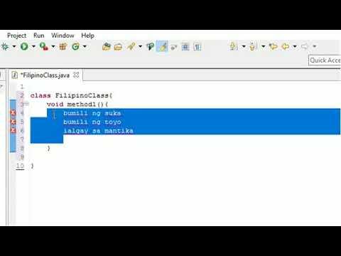 JAVA PROGRAMMING TUTORIAL 1 (FILIPINO/TAGALOG) (BEGINNERS) - How To Run A Basic Java Program