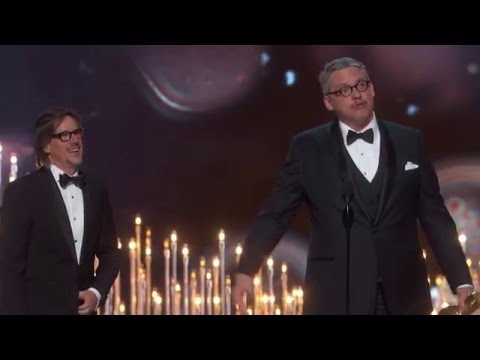 """The Big Short"" winning Best Adapted Screenplay"