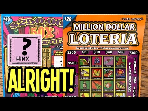 ALRIGHT! 💰 $20 Million Dollar Loteria + 50X Cashword ✪ TEXAS LOTTERY Scratch Off Tickets