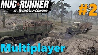 SpinTires Mud Runner: PC MULTIPLAYER Let's Play, Part 2 | TRAILER ALMOST FLIPPED!